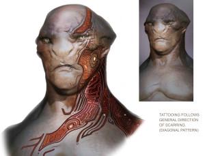 Концепт-арт татуажа расы Бета